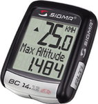 Liczniki rowerowe do 300 zł Sigma BC14.12 ALTI STS czarny
