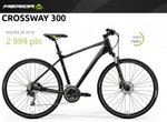 Rowery crossowe męskie Merida CROSSWAY 300 2018 MATTS BLACK GREEN/GREY